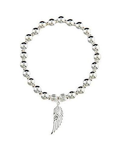 Sterling Silver Divine Guidance Angel Wing Bracelet