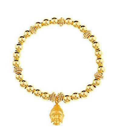 Gold Vermeil Buddha Head Charm Bracelet