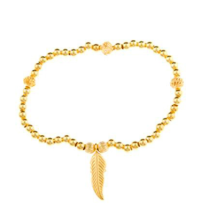 Gold Vermeil For Growth Leaf Bracelet