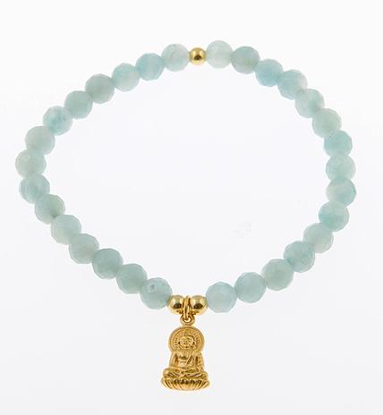 In Potential Sitting Buddha Charm Bracelet in Amazonite