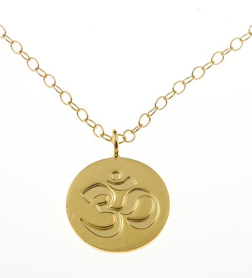 To Infinity Gold Vermeil Ohm Guru Charm Necklace