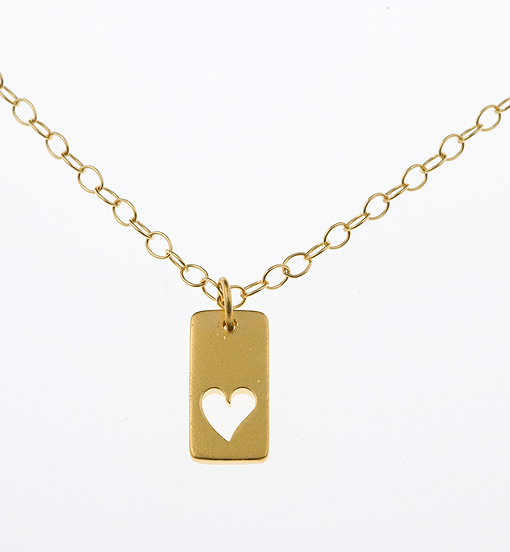 Gold Vermeil Cut Out Heart Friendship Necklace