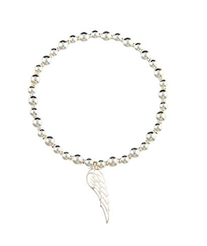 Guidance Sterling Silver Angel Wing Bracelet