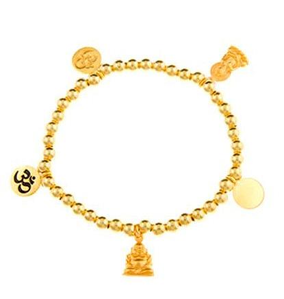 Gold Vermeil Infinite serenity Buddha Charm Bracelet