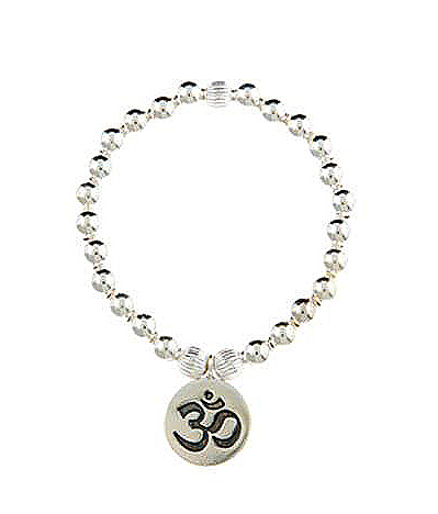 Sterling Silver Infinity Ohm Bracelet