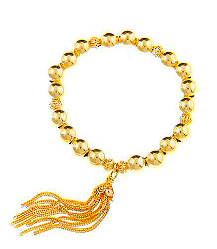 Gold Vermeil Negativity Sweep Large Tassel Bracelet