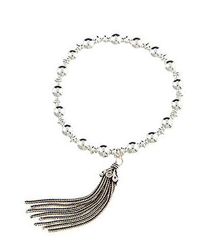 Sterling Silver Negativity Sweep Tassel Bracelet