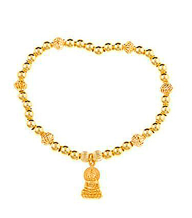 Gold Vermeil Little Buddha Bracelet
