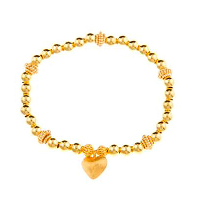 Gold Vermeil Love Drop Heart Bracelet