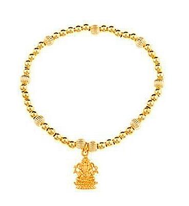 Gold Vermeil Opportunity Knocks Ganesh Bracelet