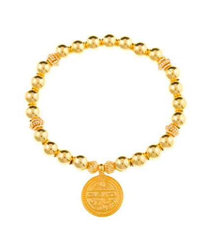 Gold Vermeil Sanskrit Inscribed Good Health Bracelet