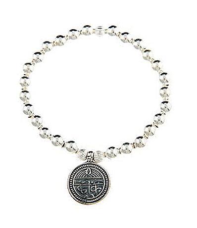 Sterling Silver Sanskrit Inscribed Good Health Bracelet