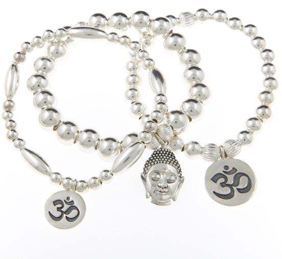 Contentment Sterling Silver Bracelet Set