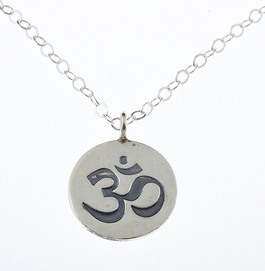 To Infinity Sterling Silver Ohm Guru Charm Necklace