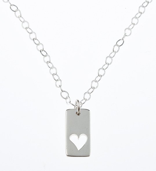 Sterling Silver Cut Out Heart Friendship Necklace