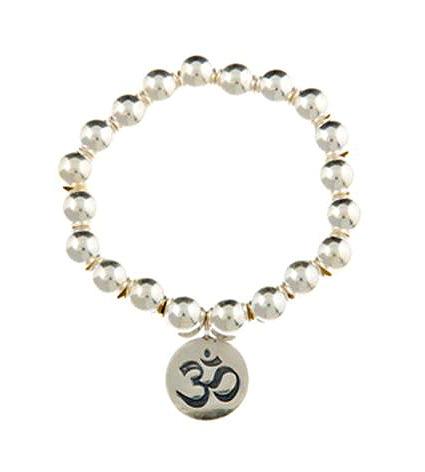 Super 8 Infinity Ohm Sterling Silver Bracelet