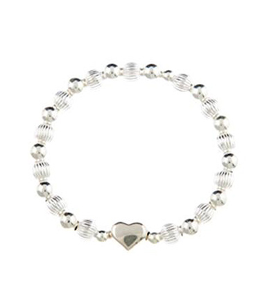 Sweetheart Sterling Silver Puffed Heart Bracelet