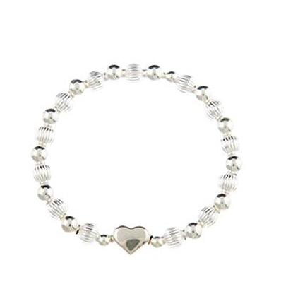 Sweetheart Sterling Silver Puffed Heart Bracelet