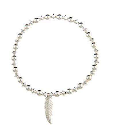 Tranquility Sterling Silver Leaf Charm Bracelet